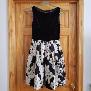 Tahari ASL Velvet Floral Dress (lined)